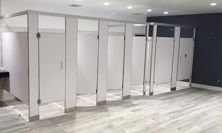 We specialize in installation and customization of items such as toilet partitions, washroom accessories, lockers, mail boxes, bicycle racks, ...