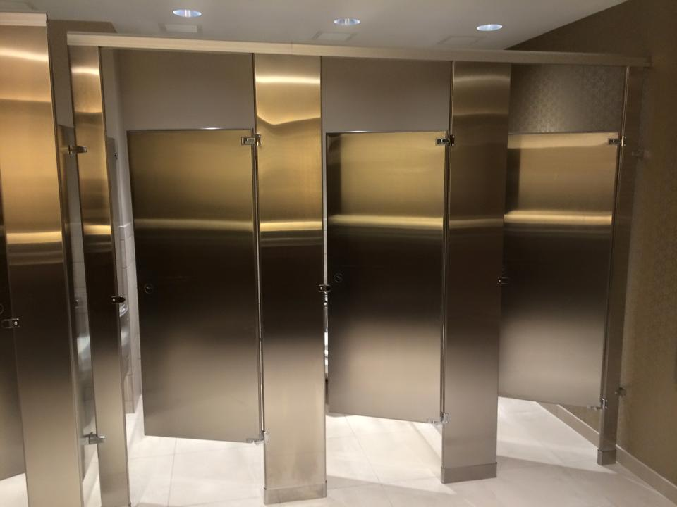 Weston Banquet Hall Bathroom Partition Installation Watkins Magnificent Bathroom Partition