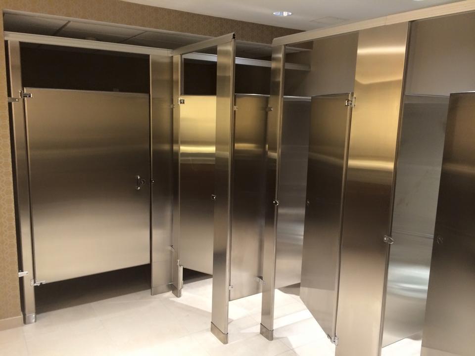 Bathroom Partitions Tampa weston banquet hall bathroom partition installation – watkins