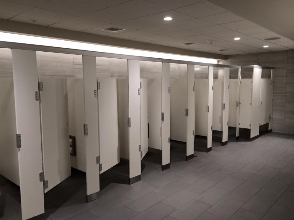 Bathroom Partitions At Amalie Arena Watkins Accessories